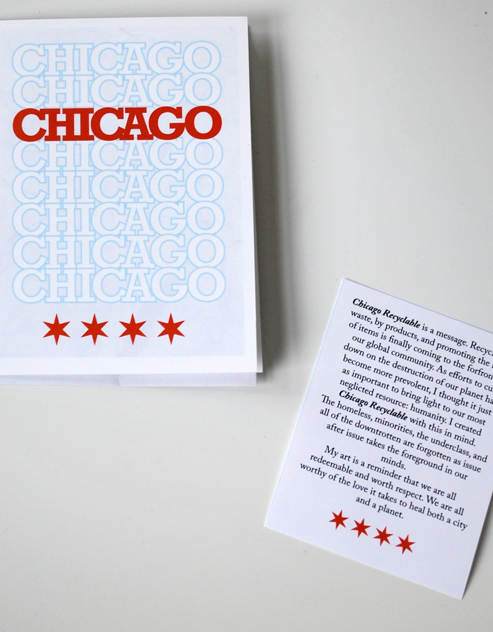 Knight Illustrations Chicago Recyclable Greeting Card by David Knight