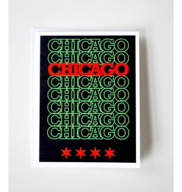 David Knight Chicago Recyclable: Pan Greeting Card by David Knight