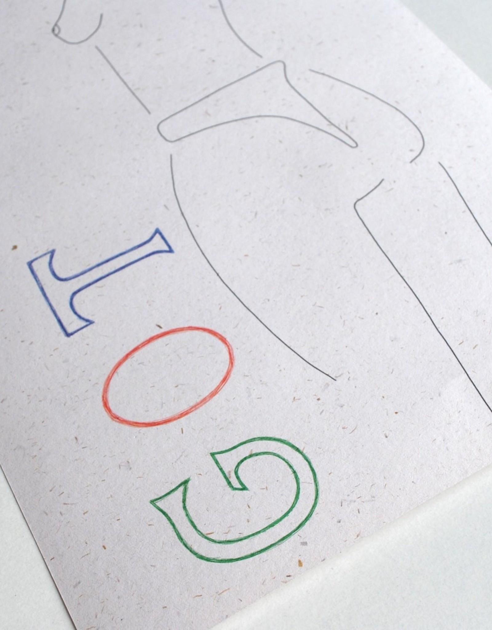 """Triana Drozd """"GOT"""" digital print on hemp paper by Triana Drozd"""