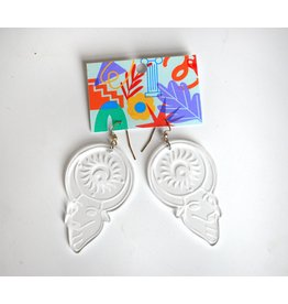 Kirsten Beard Apis Acrylic Earrings by Kirsten Beard