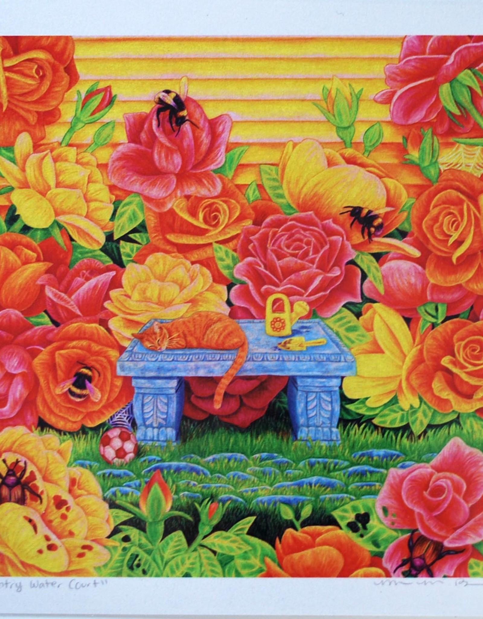 "Megan Rivera ""Rose Garden"" Art Print by Megan Rivera"