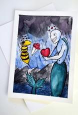 Wasp 4 Siren Watercolor Card by Anastasia Murphy