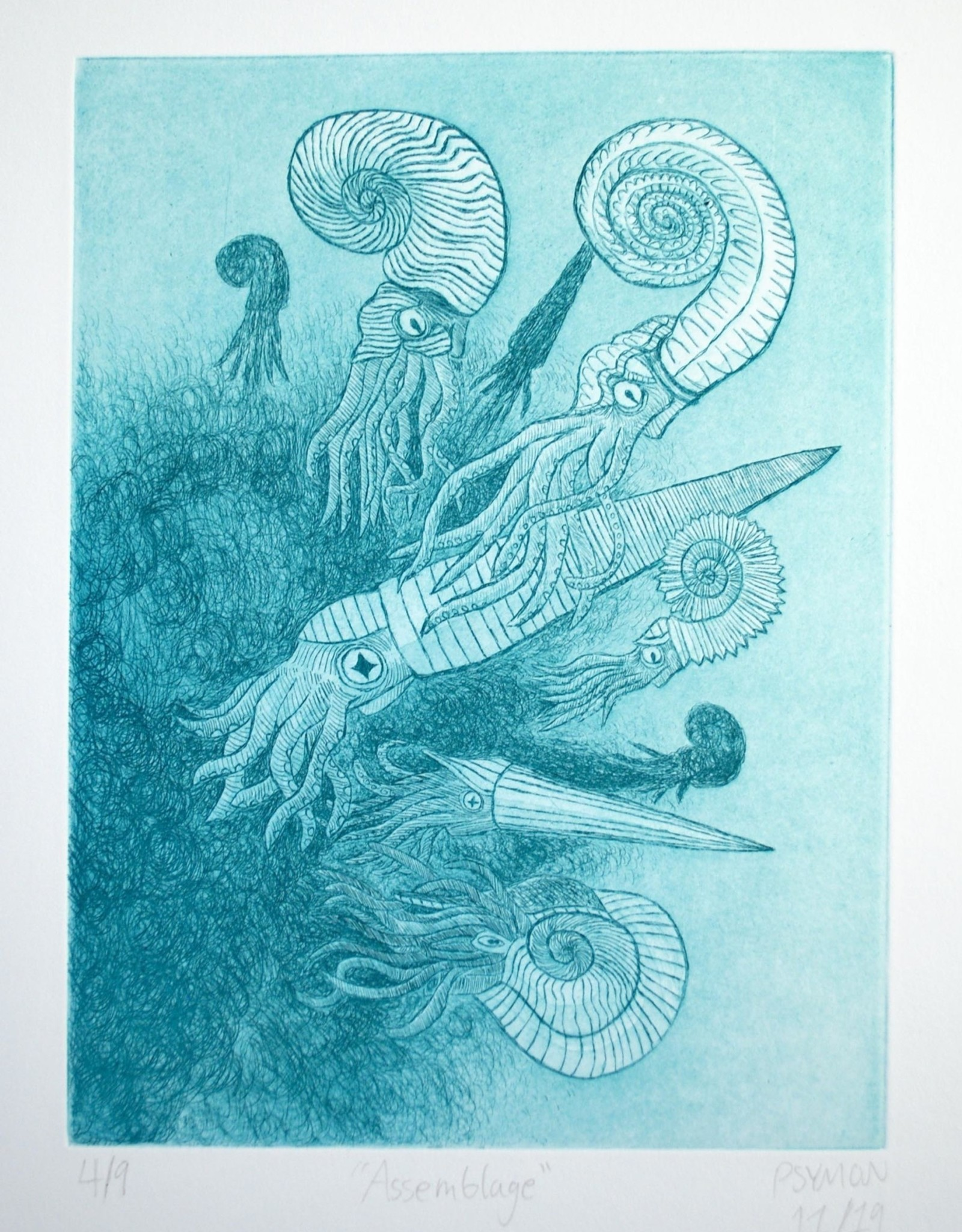 """""""Assemblage"""" etching by Simon Knuth"""