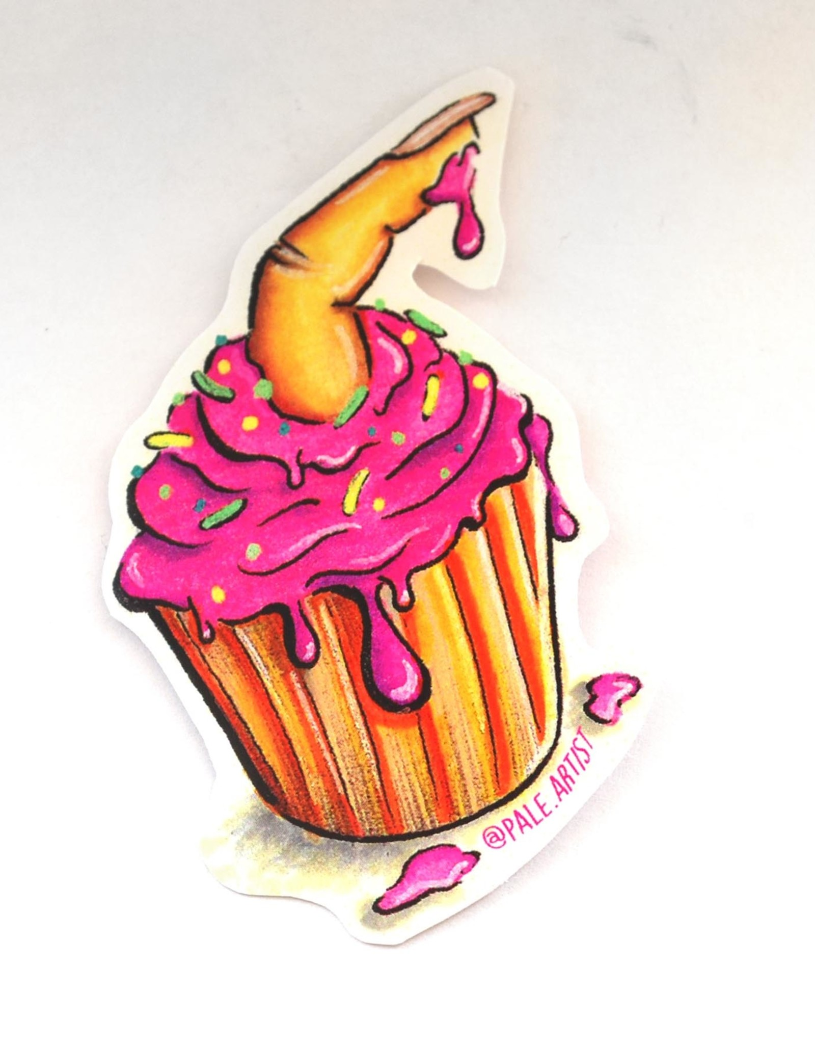 Pale Artist Cupcake Vinyl Sticker by Pale Artist