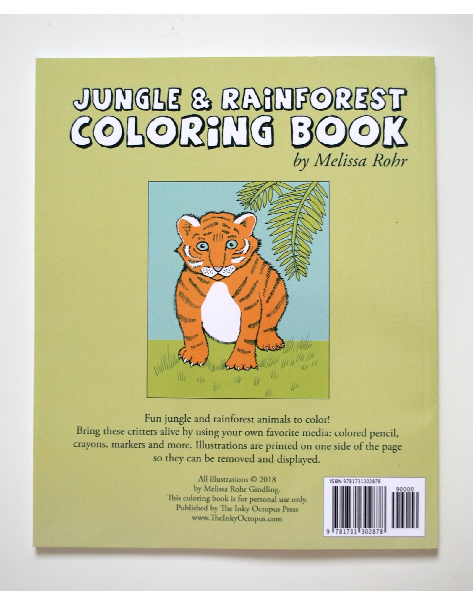 Melissa Rohr Gindling Jungle and Rainforest Coloring Book by Melissa Rohr Gindling