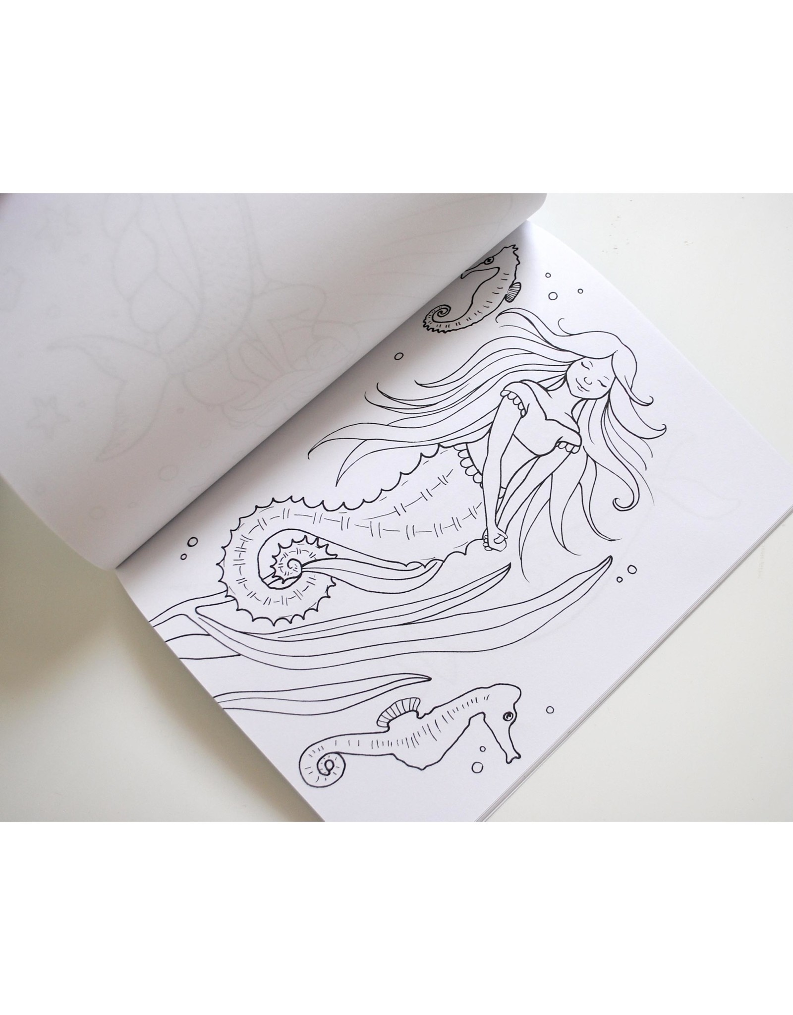 Melissa Rohr Gindling A Mermaid's World Coloring Book by Melissa Rohr Gindling