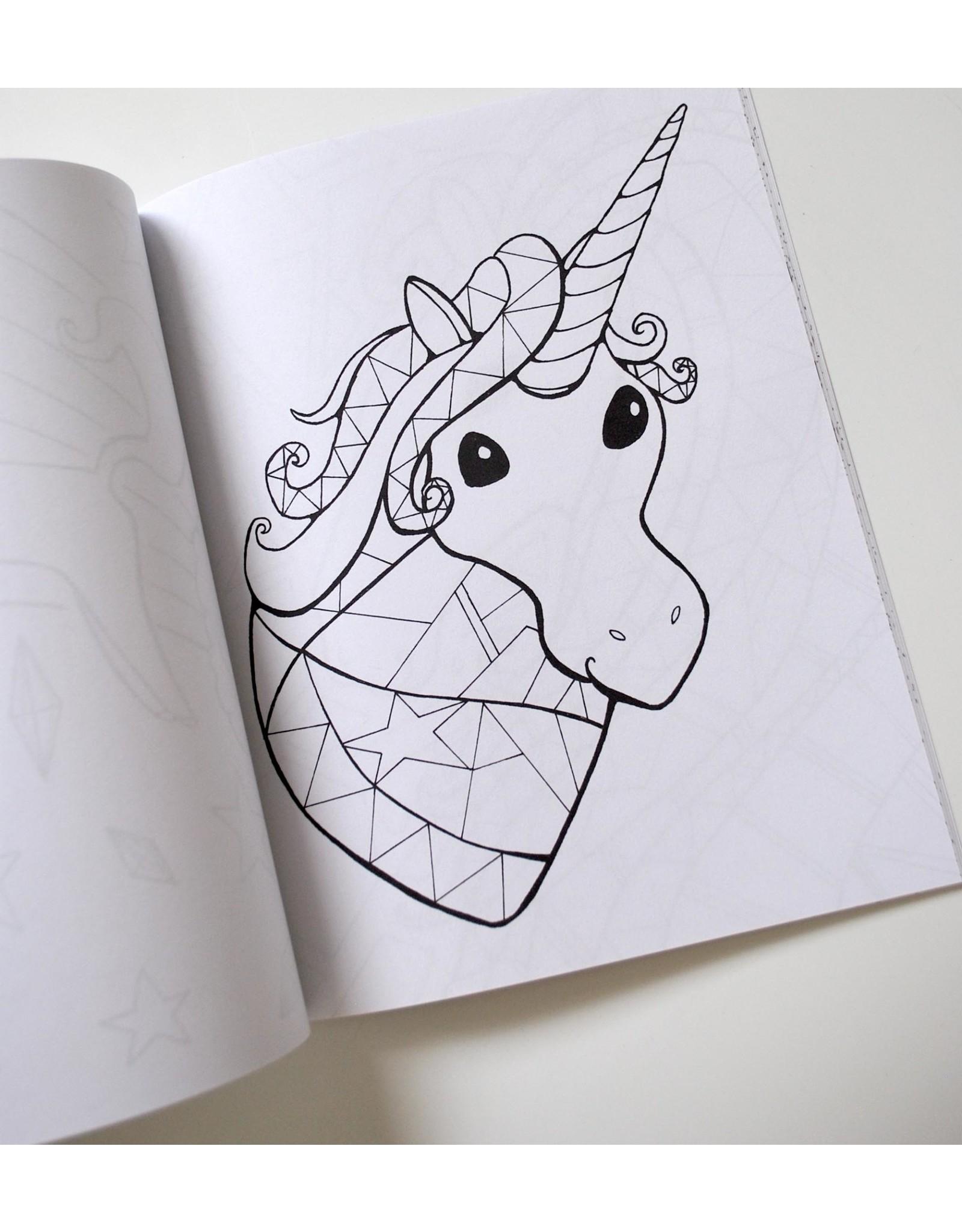 Melissa Rohr Gindling Unicorn and Pony Coloring Book by Melissa Rohr Gindling