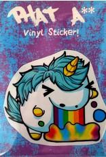 David Knight Phat Ass Small Uniponie Sticker by David Knight