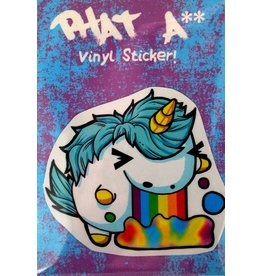 Knight Illustrations Phat Ass Small Uniponie Sticker by David Knight
