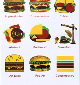 """Burger Art History"" Sticker by Danielle Przybysz"