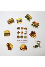 """Burger Art History"" Sticker by Danielle Przybysz"