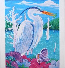 "Megan Rivera ""Heron"" Art Print by Megan Rivera"