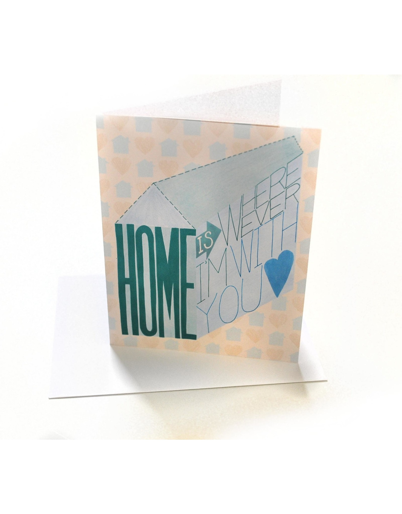 Paper Heart Dispatch Home Wherever I'm w/ya Card by Jennifer HInes