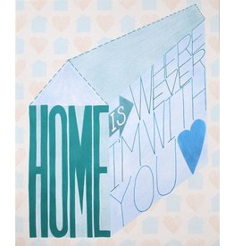 "Paper Heart Dispatch ""Home"" Print, Digital by Jennifer Hines"