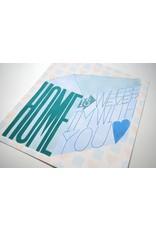 "Paper Heart Dispatch ""Home"" Print, Digital by Jennifer Hines"