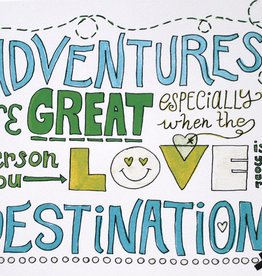 "Paper Heart Dispatch ""Adventure"" Print, Digital by Jennifer Hines"