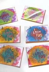 I love You Greeting Card by Hale Ekinci