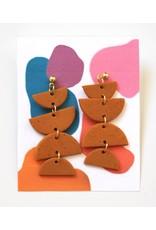 Burnt Orange Clay Earrings by Clare Cinelli
