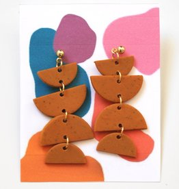 Burnt Orange Clay Earrings by Clare Cinelli