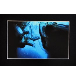 Daria Percy Untitled 3 (bue) Matted 4x6 photograph by Daria Percy