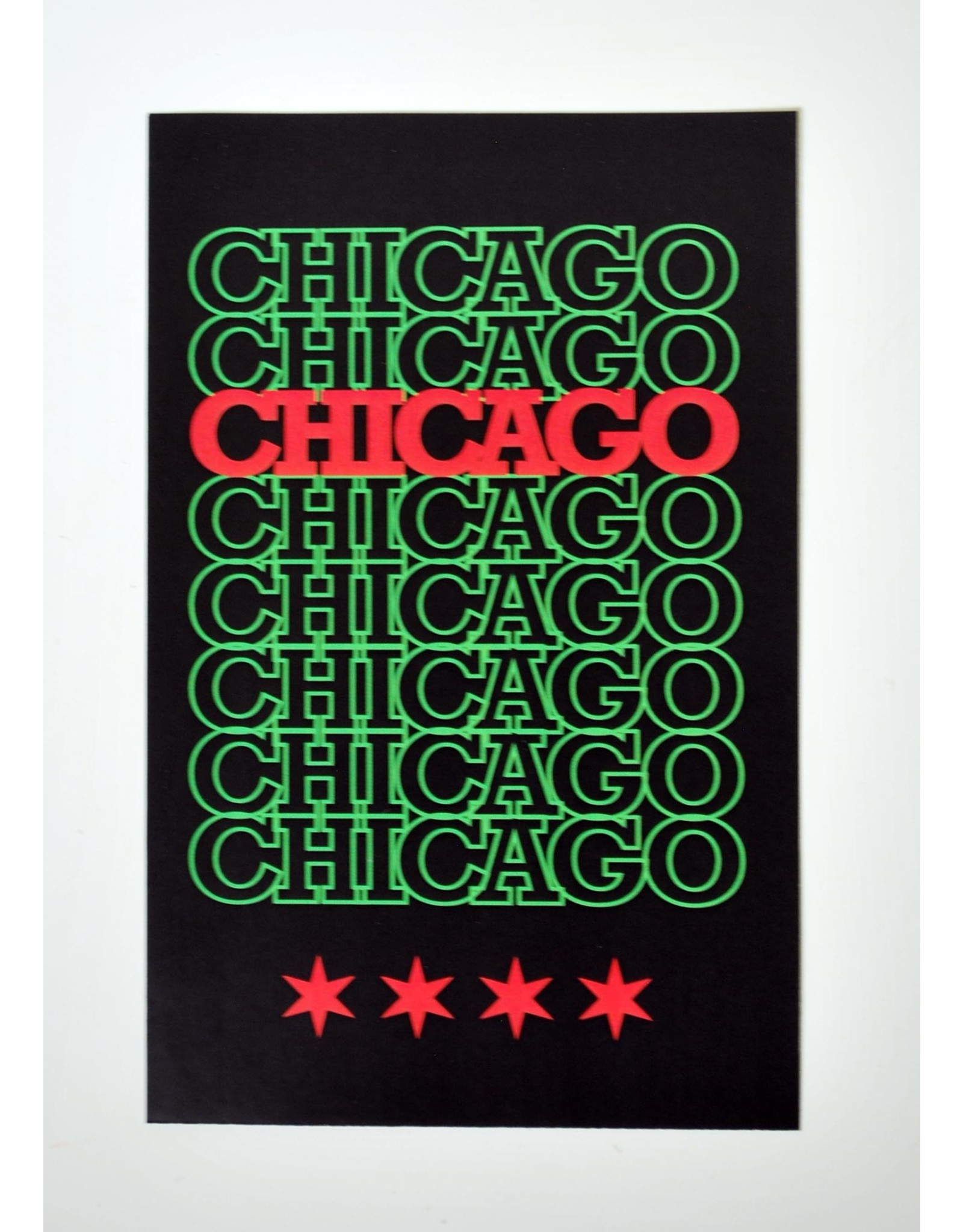 David Knight Corvus Press: Chicago Pan Recyclable Sticker by David Knight