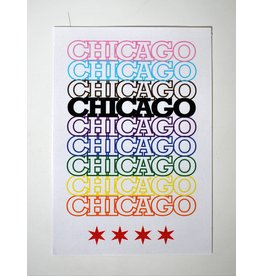 David Knight Corvus Press: Chicago Peace Recyclable Sticker by David Knight