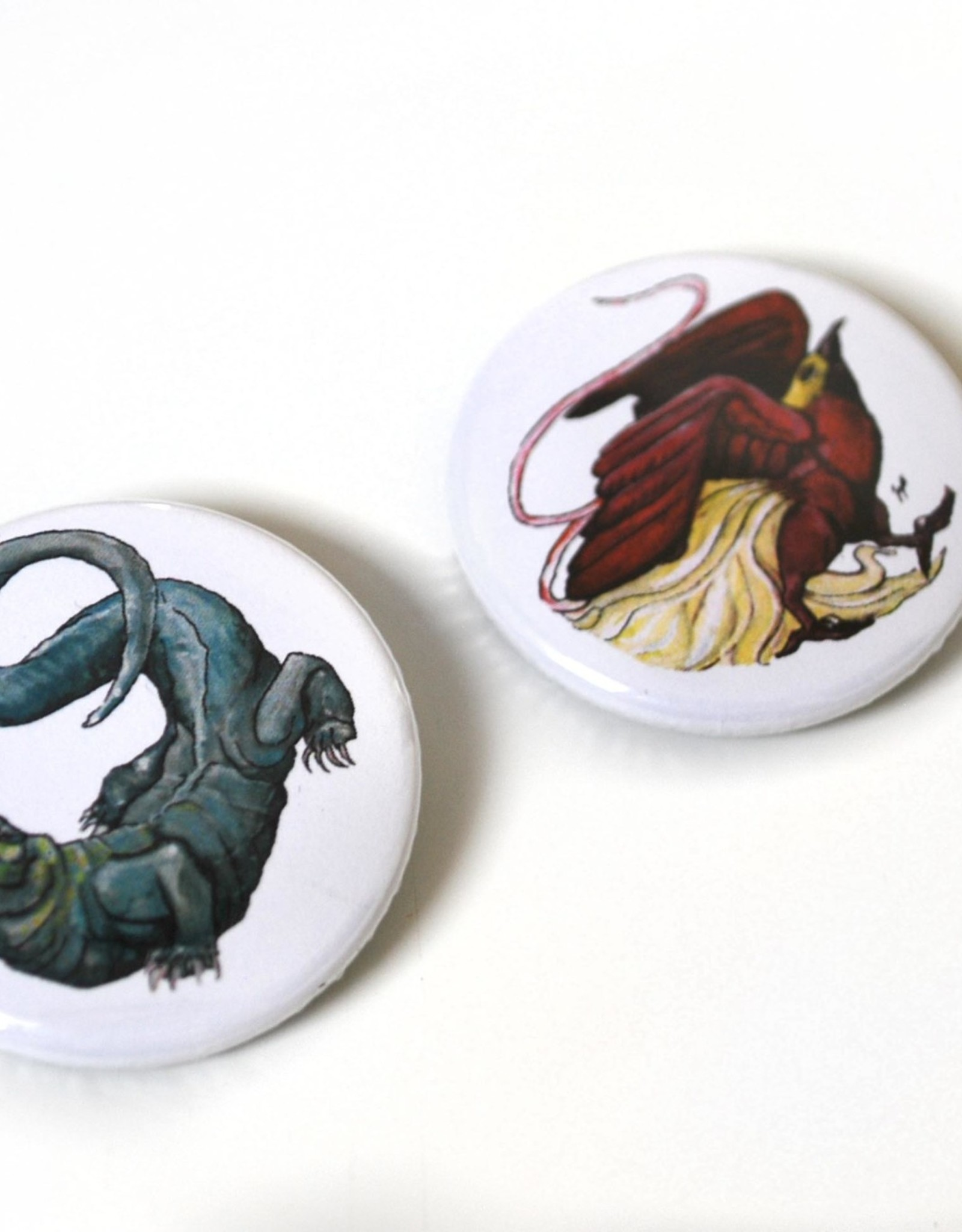 """Set of 2 Buttons (1.5"""") by Laiqah Hanold"""