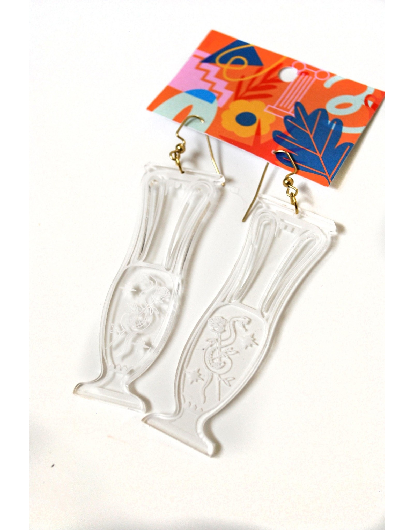 Kirsten Beard Snake Vase Earrings by Kirsten Beard