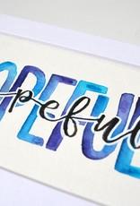 """Watercolor Positivity """"Hopeful"""" 1 by Jennifer Pollack"""