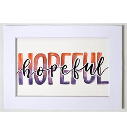 "Watercolor Positivity ""Hopeful"" 2 by Jennifer Pollack"