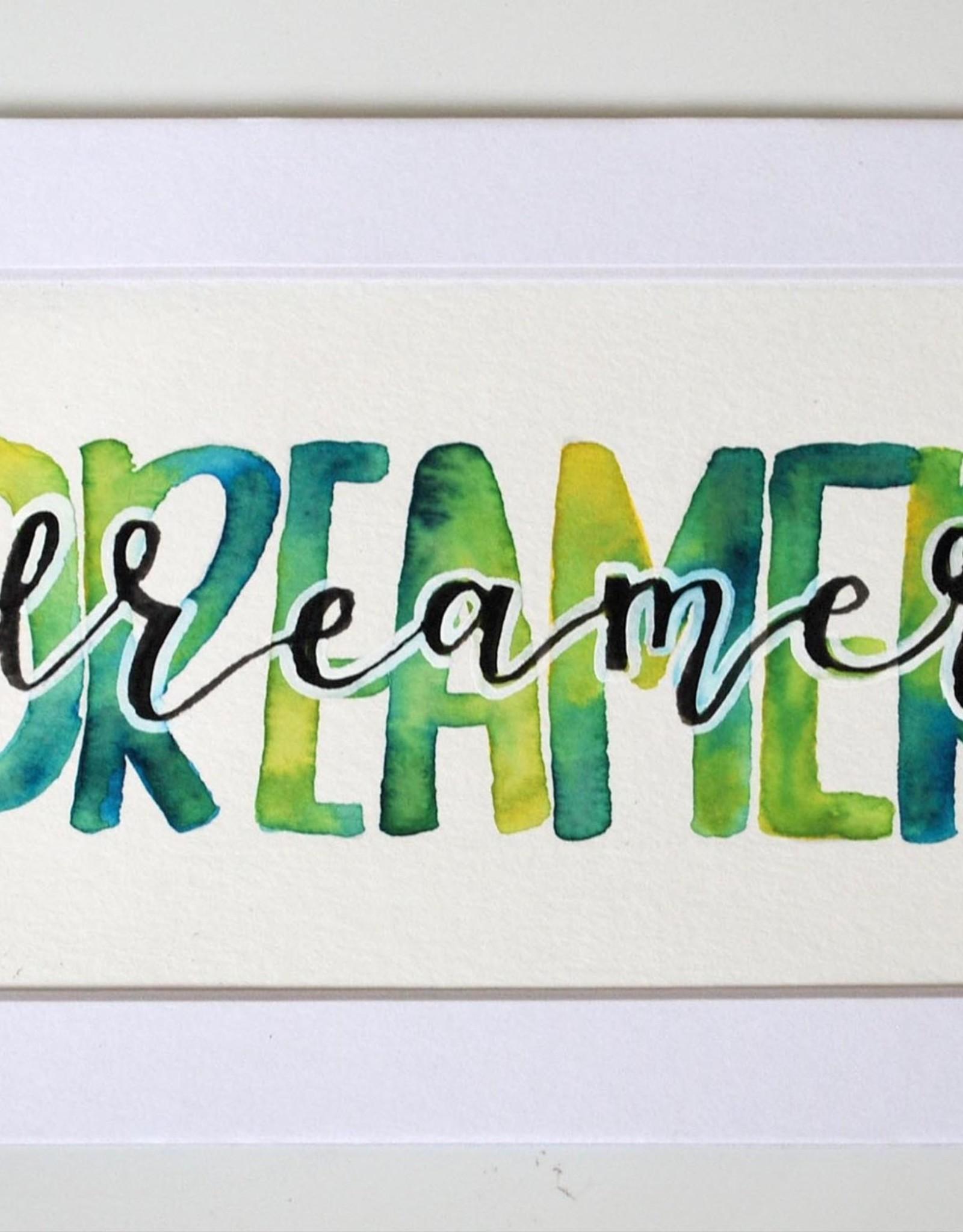 "Watercolor Positivity ""Dreamer"" by Jennifer Pollack"
