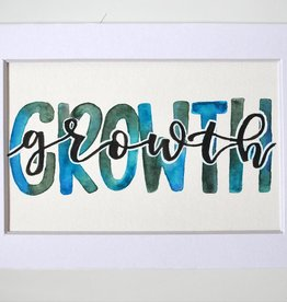 "Watercolor Positivity ""Growth"" by Jennifer Pollack"