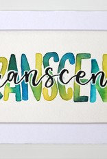 """Watercolor Positivity """"Transcend"""" by Jennifer Pollack"""