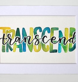 "Watercolor Positivity ""Transcend"" by Jennifer Pollack"