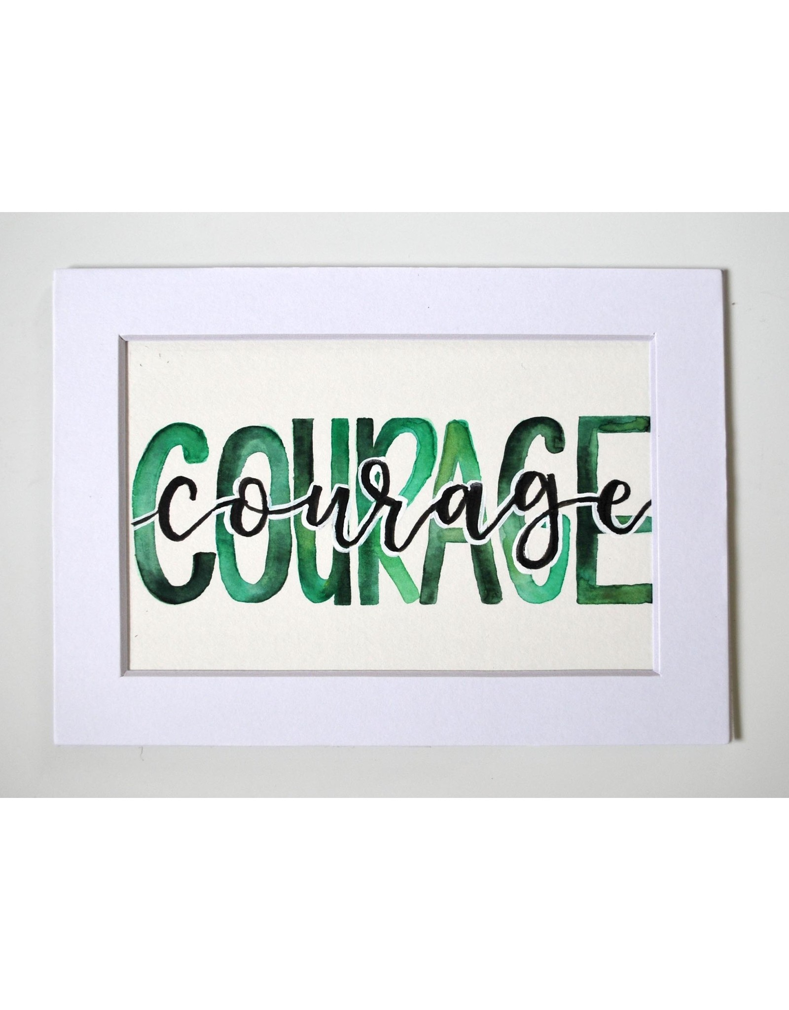 """Watercolor Positivity """"Courage"""" 1 by Jennifer Pollack"""