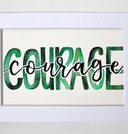 "Watercolor Positivity ""Courage"" 1 by Jennifer Pollack"
