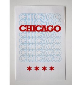 Corvus Press: Chicago Original Recyclable Sticker by David Knight