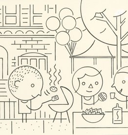 Ivan Brunetti BBQ, Illustration by Ivan Brunetti for the New Yorker, Goings On About Town, September 12, 2013