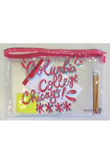 Buy Columbia, By Columbia Columbia College Chicago Clear Zipper Pouch - watermelon red