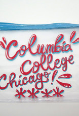 Buy Columbia, By Columbia Columbia College Chicago Clear Zipper Pouch - Blue