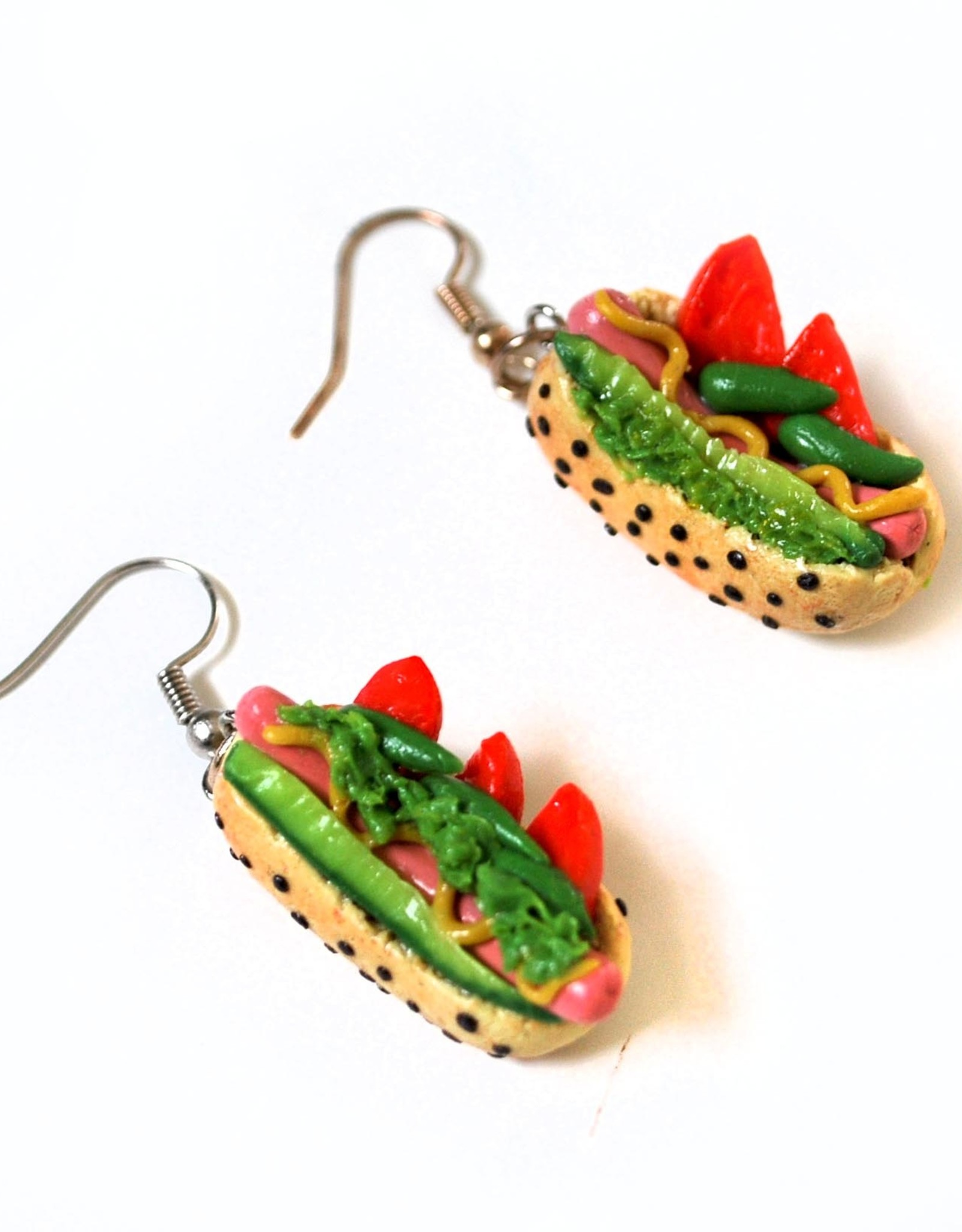 """""""Chicago Dogs"""" Pair of Earrings by GERM Jewelry online"""