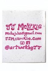 """Hi There"" mini comic on hemp paper by JJ McLuckie"