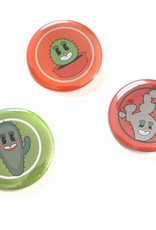 Cactus Buttons by Valencia Beamesderfer