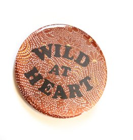Julia Arredondo Wild At Heart Pinback Button by Julia Arredondo