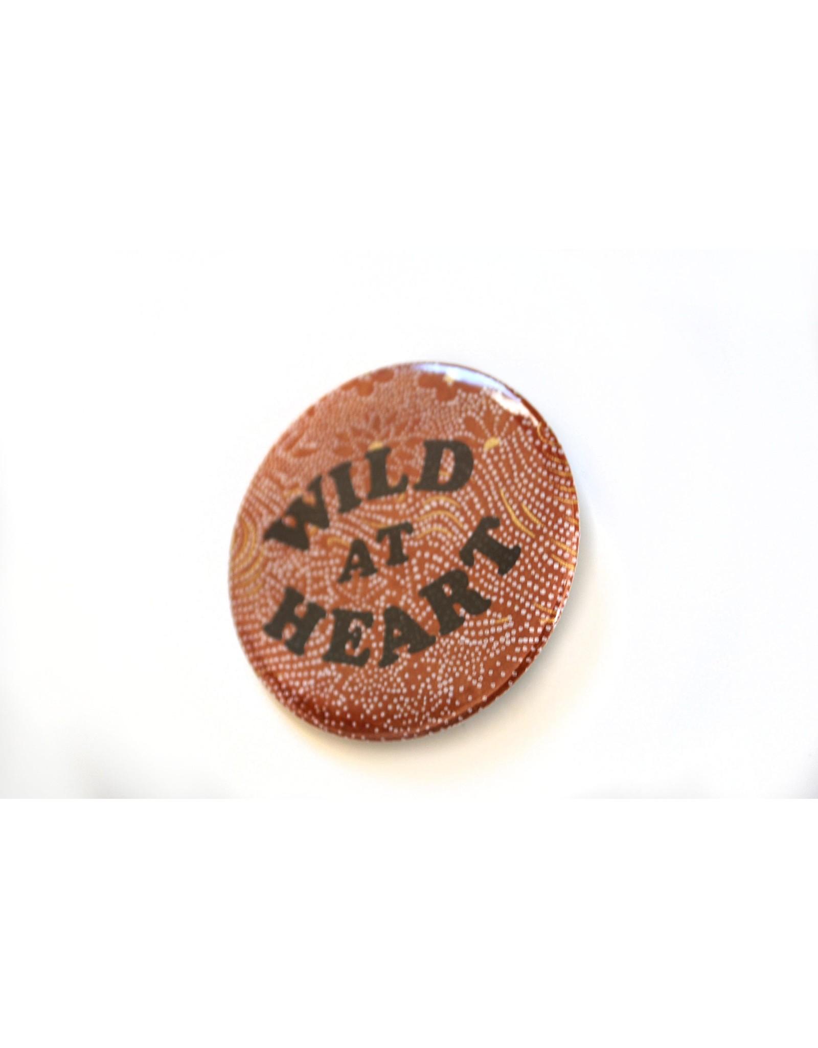 Julia Arredondo Wild At Heart Pinback Button by Julia Arredondo