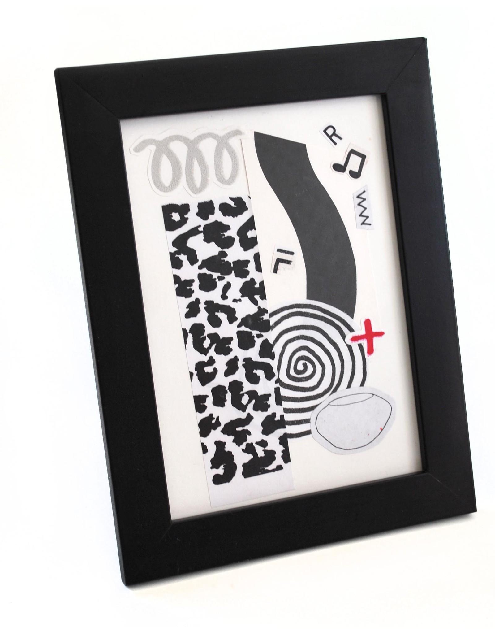 Julia Arredondo Quarantine Party, framed collage by Julia Arredondo