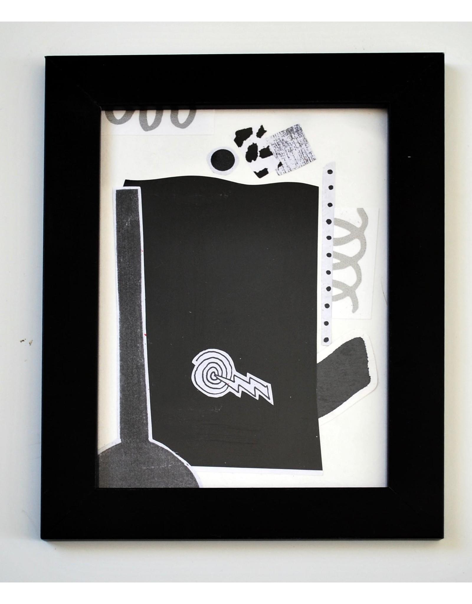 Julia Arredondo Sleep to Dream, framed collage by Julia Arredondo