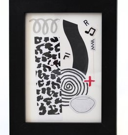 Julia Arredondo Quarantine Party, framed collage by Julia Arredondo