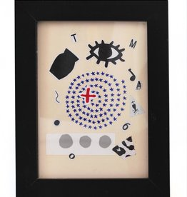 Julia Arredondo Full Moon Thoughts, framed collage by Julia Arredondo