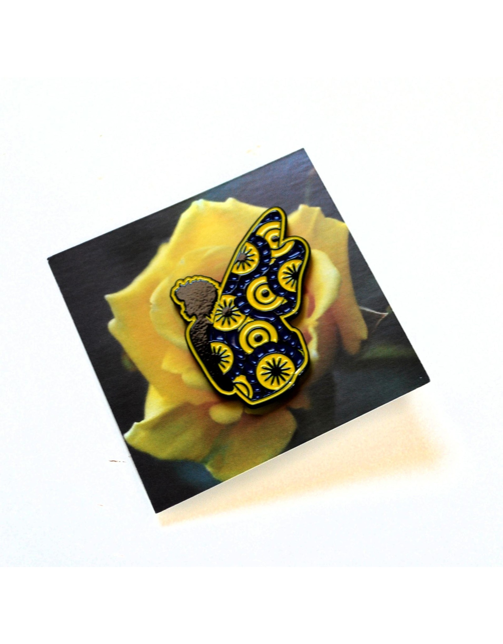 Blue and Gold Butterfly Pin by ReformedSchool